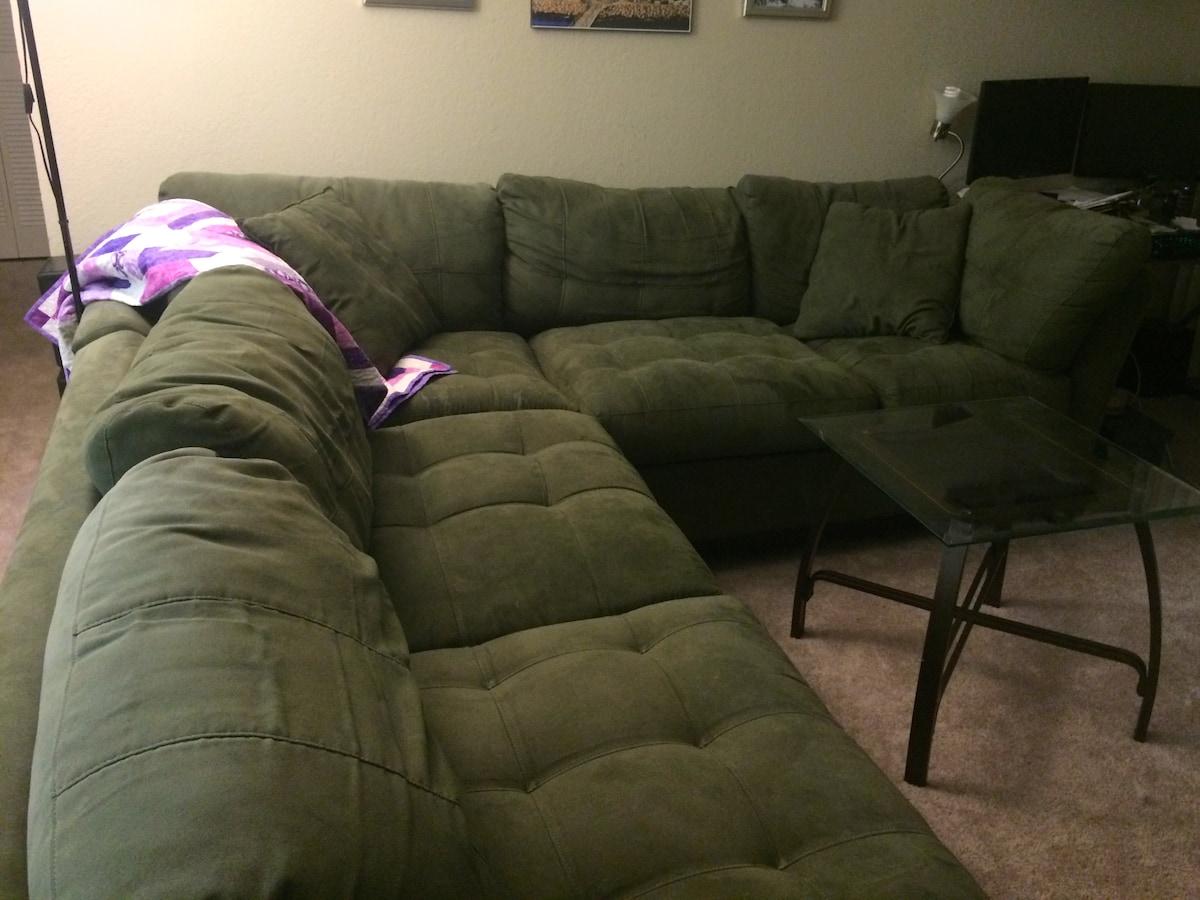 Comfortable sofa sectional