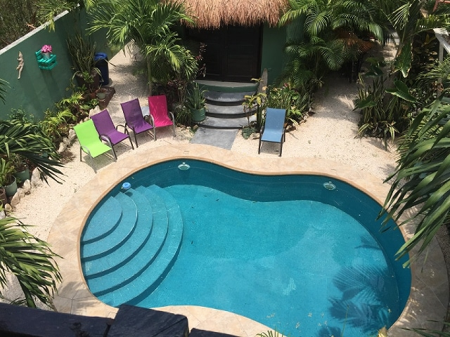 Beautiful pool right out your door.