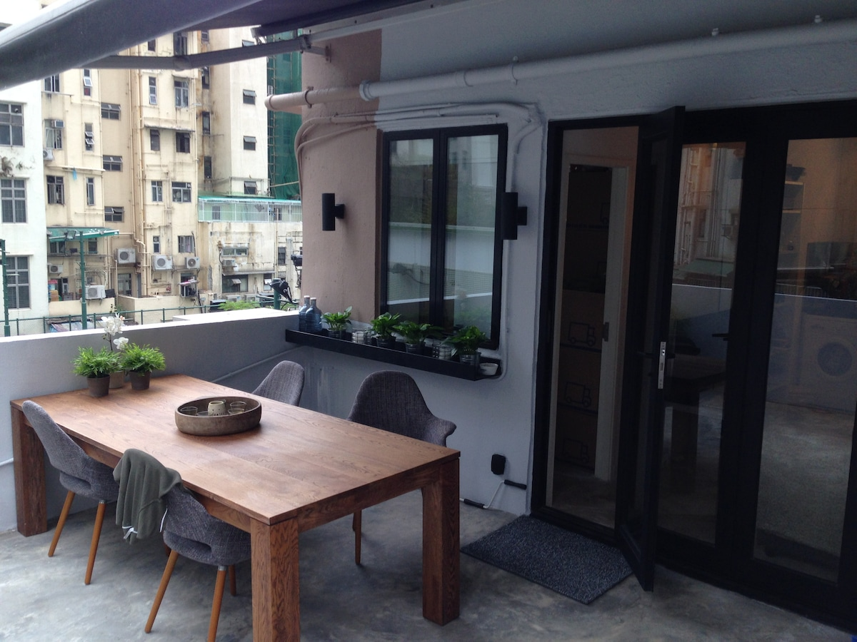 Apartment with walk out terrace