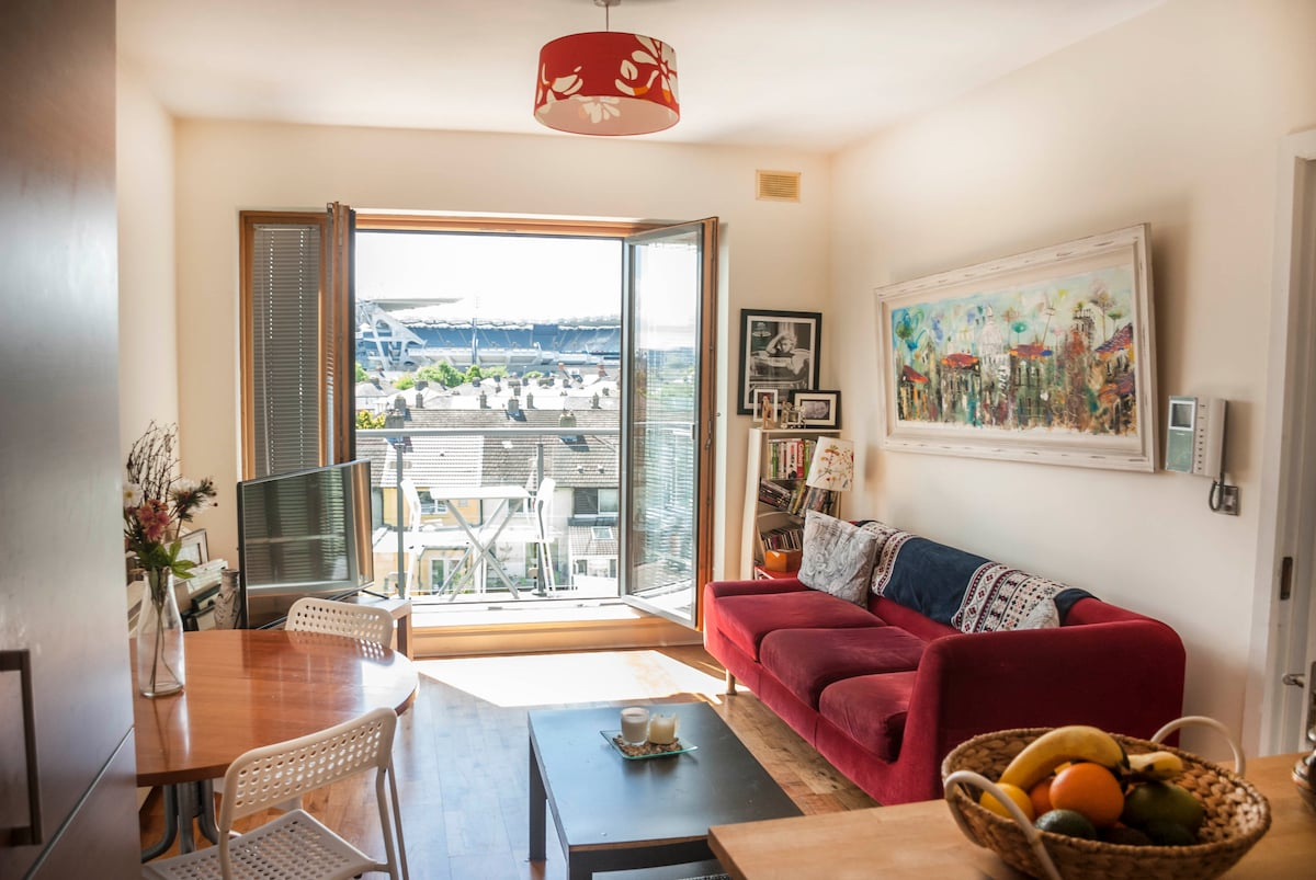 Large 1 bed Apt with city view