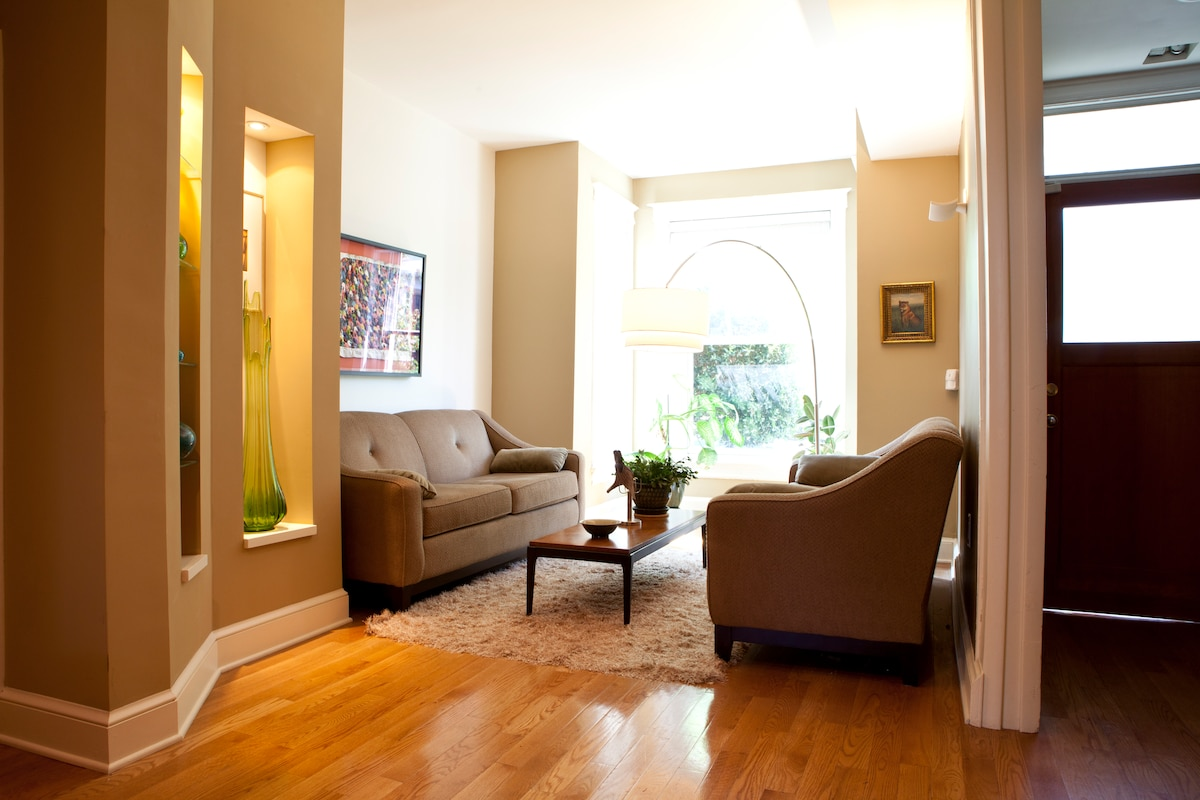 Our more formal living room. We like a mix of modern and traditional.