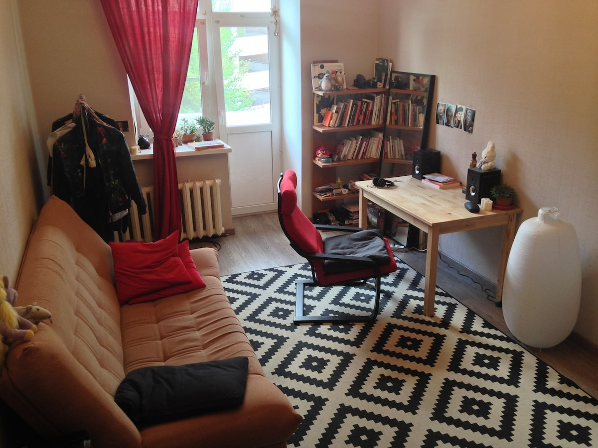 Room in 2 rooms apartment in Moscow