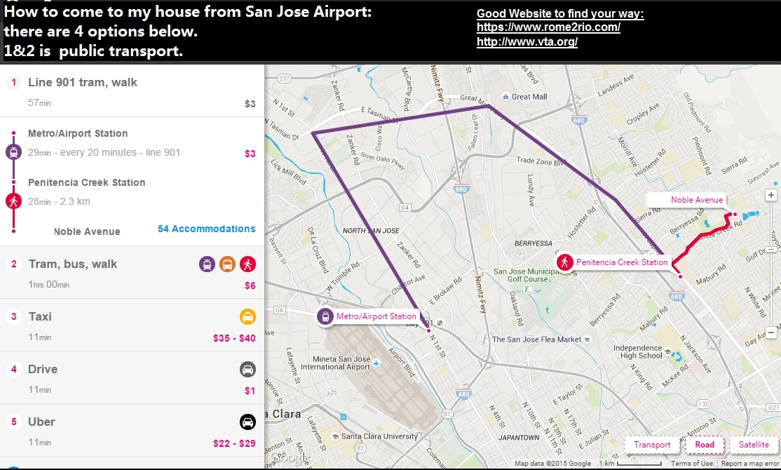 How to come from San Jose Airport?