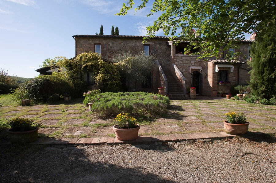 suite privata in campagna toscana