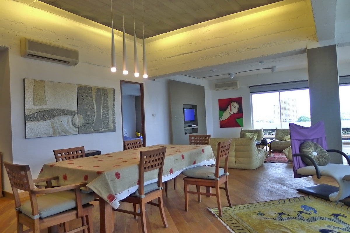 dining and living area different ancle