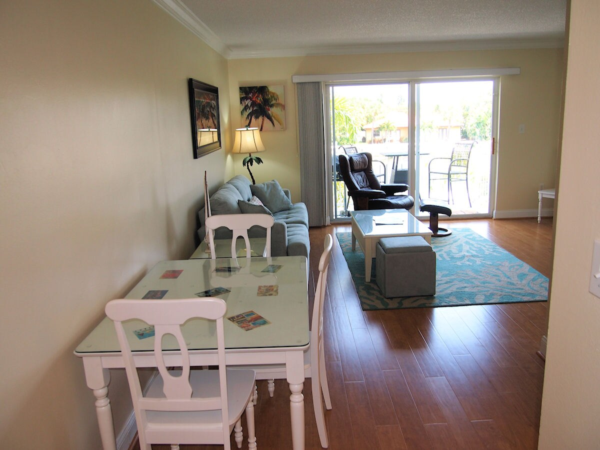 Dining area (4th chair not shown but available in condo).