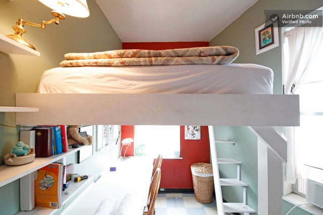 10ft ceilings means plenty of hight and space.