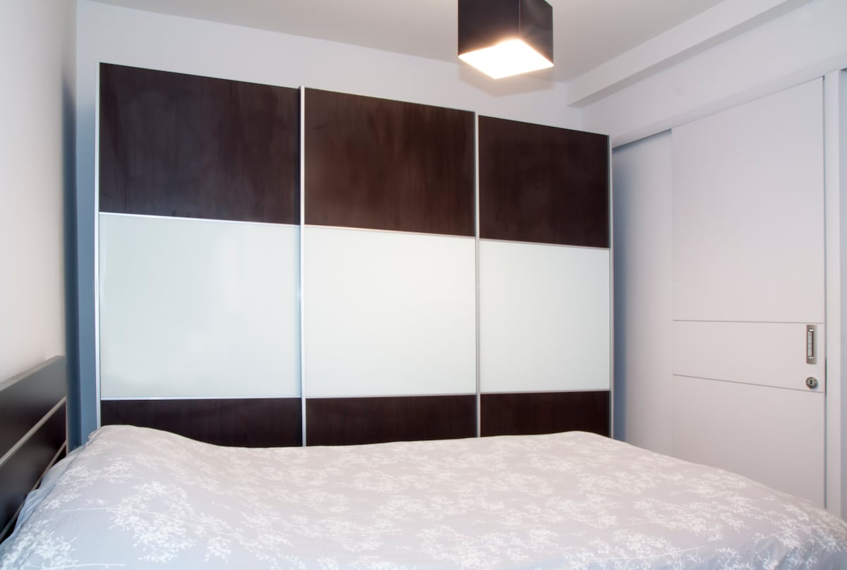 Spacious closet in the master bedroom