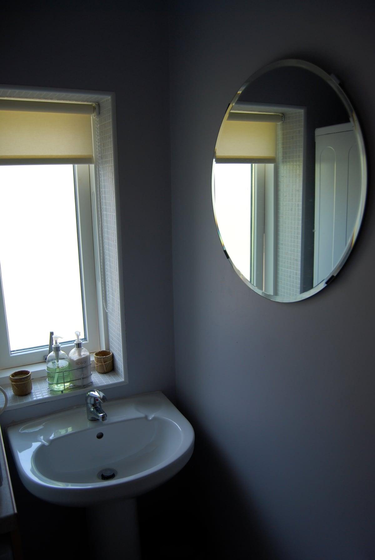 Bathroom/shower area