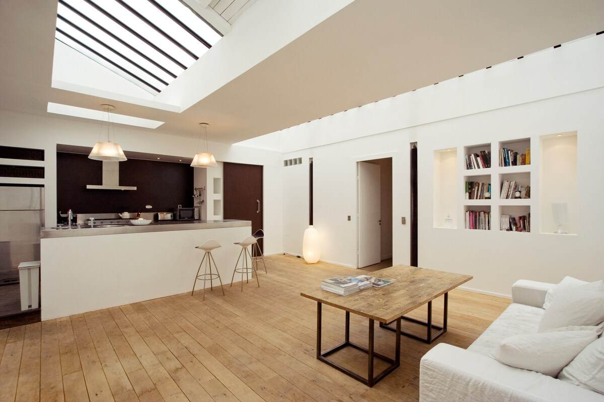 Bright 145 m2 Terrace Loft 3 Rooms