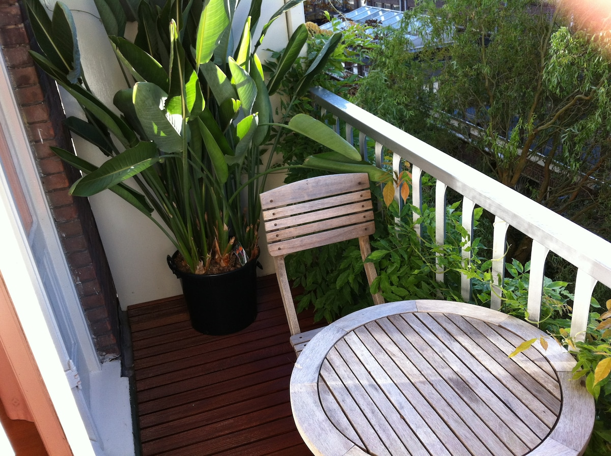 My favourite place... This green balcony at southside catches sun from morning till evening