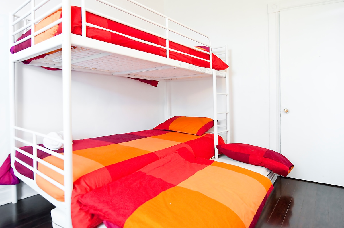 2nd Bedroom 2 Single Bed + 1 Extra Single Bed