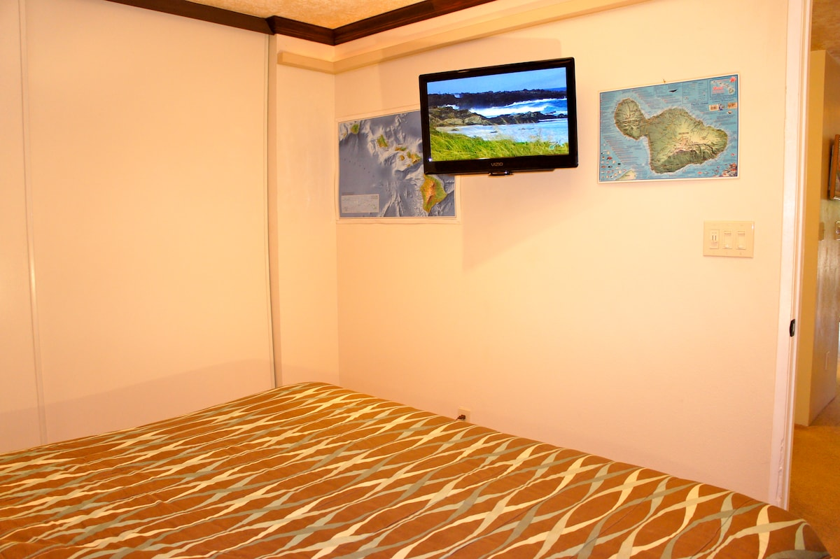 Wall mounted flat screen tv with cable in your bedroom