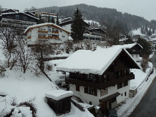 View from the balcony in the winter