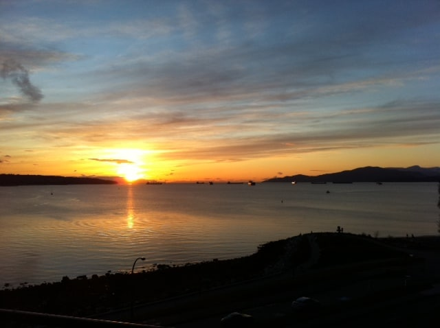 Seawall sunset. Just a stroll away.