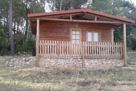 CABAÑA DE MADERA EN ZONA RURAL. - Blockhütte
