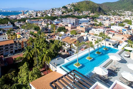 Rooftop Pool in Brand New Condo Old Town - Puerto Vallarta
