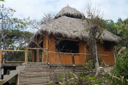 Private Beachfront Palapa in Eco Preserve - Bungalow