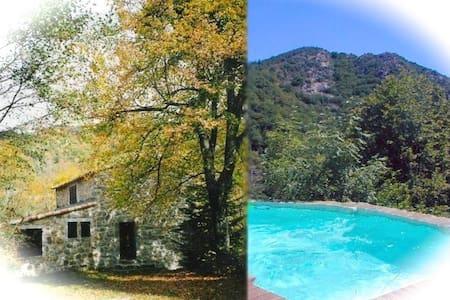 Maison en pierre, piscine privée - House