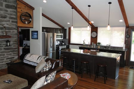 Penn State Football Rustic Lodge Home - House