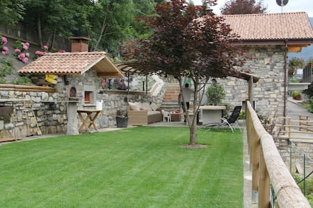 Agriturismo con giardino e berso - Dizzasco - Cabane