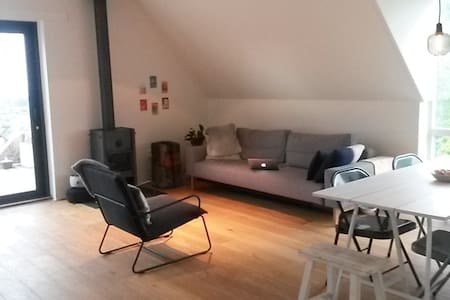 Design apartment with seaview (25min to Amsterdam) - Appartement