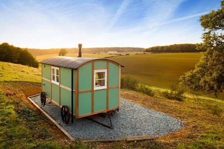 Wild Valley retreat shepherds hut - Skjul