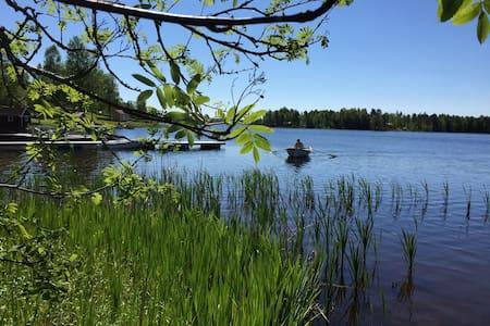 Stuga vid sjö - Ludvika Ö - Hus