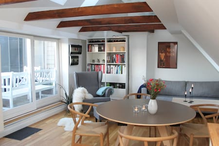 Open and bright penthouse in the center of Aarhus - Aarhus