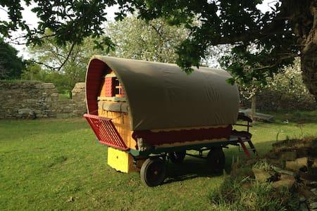 Confortable roulotte en bois à l'ombre du chêne - Andet