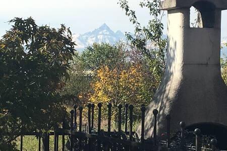 Vista mozzafiato Monviso - vicinanze Torino - Huvila