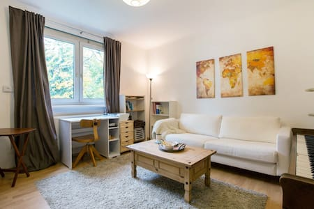Special deal! Whole apartment for cheap for the dates shown! Bright, cute and cozy private room with large windows, surrounded by trees & birds chirping, with a garden area outside. You can easily & quickly get to the city center (10-15 on single tram). Professionally cleaned! Enjoy complimentary breakfast materials.