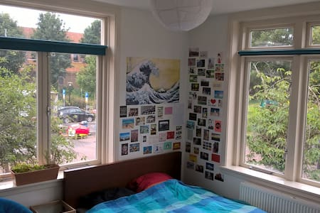 Light Double Room in Student House - Huis