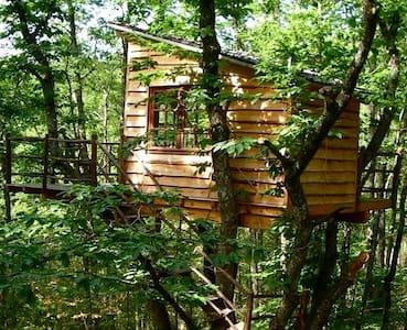 Cabane Les Arbres - Blockhütte