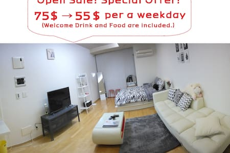 This is wide and luxury house near Gangnam station. It is much bigger than other houses in Gangnam, and has luxury furniture such as Queen size bed and sofa. Also, all necessary items are provided. Additionally, free portable Wifi is available.