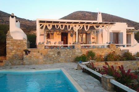 Villa with private pool.Sunset view - Paros - House