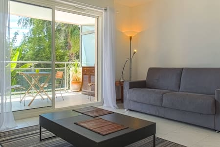 Lovely Flat with Pool + A/C + Parking + Terrace - Nizza - Wohnung