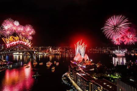 Sydney's romantic  New Year's Eve Fireworks 2017 - Darlinghurst - Lägenhet