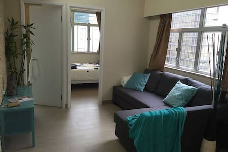2 bedrooms: 1 bedroom with en-suite bathroom, 1 double bedroom, 1 spacious and bright living room with a comfortable sofa bed, kitchen with washer/dryer, private rooftop available soon