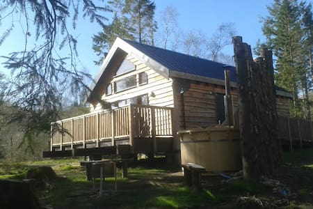 Burnside Log Cabin with hot tub - Taynuilt - Cabaña