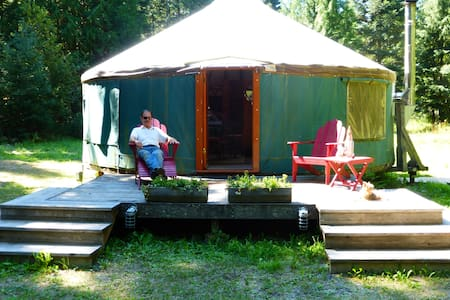 Glamp in Private N ID Forested Yurt - Jurta
