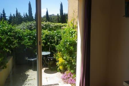 grand studio provençal avec petit jardin - House