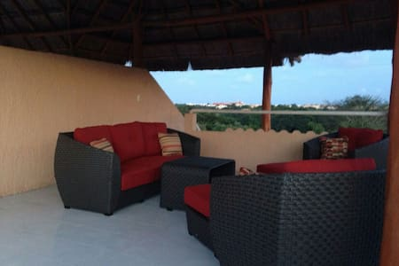 Magical views from private palapa