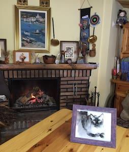 Casita con chimenea para eventos - Casa