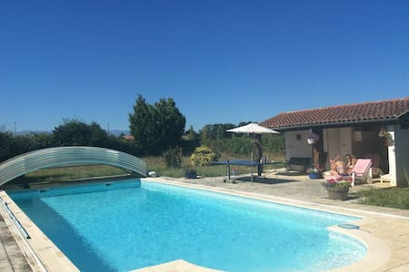 Large Country House with Pool & Pyrenees views - House