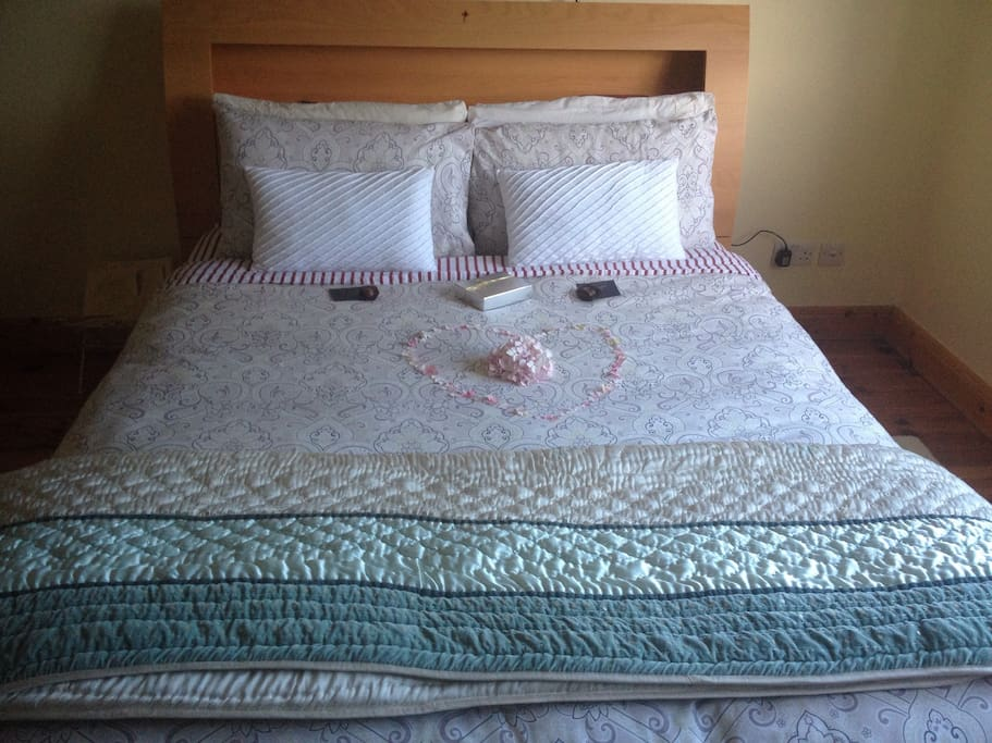 View of King size bed. (honeymoon edition)