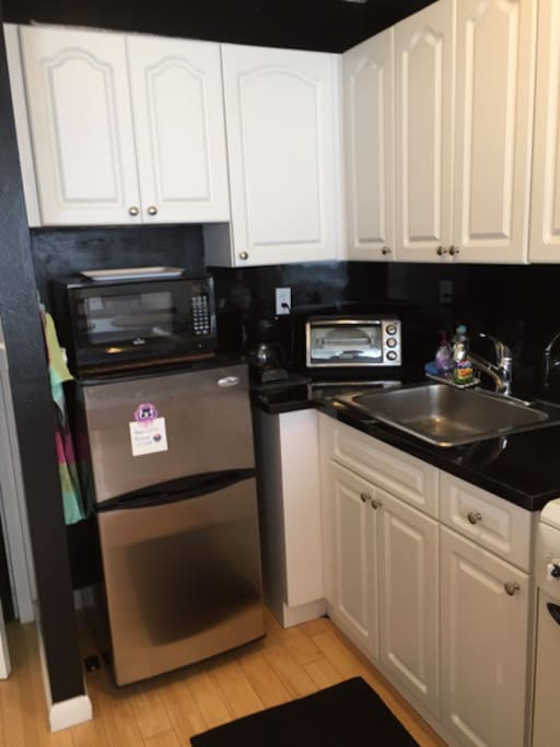 New fridge, Microwave and Toaster Oven