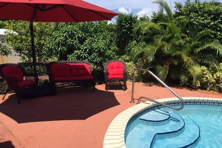 3bd house, pool, 1.3 miles to beach - 迪爾菲爾德海灘(Deerfield Beach)