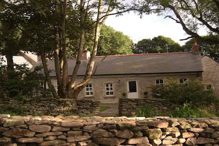 Just 10 minutes from Derry, this 18th-century country cottage is cosy, secluded and charming.  Sleeps 4-6.  Kitchen, skullery, large living room,  mezzanine & sofa bed, 2 bedrooms.  Garden, patio, courtyard, parking. TV & Wifi. Minimum stay 3 nights.