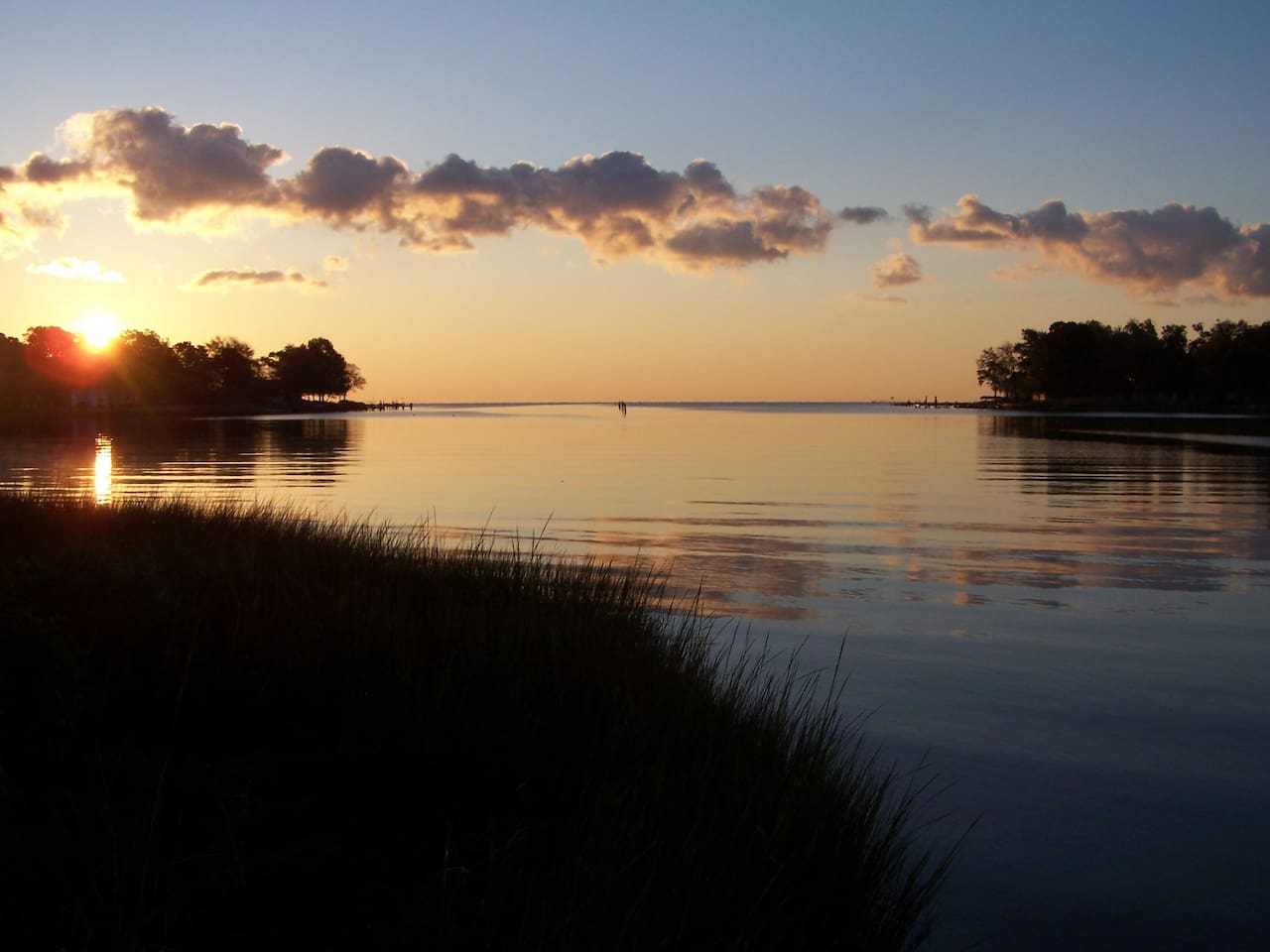 Sunrise over the Chesapeake Bay and Broadwater Creek from Light Landing